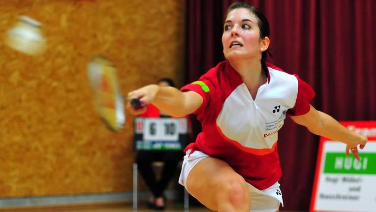Monika Fischer verlor gegen Simone Spescha im Dritten Satz nur knapp mit 20:22.