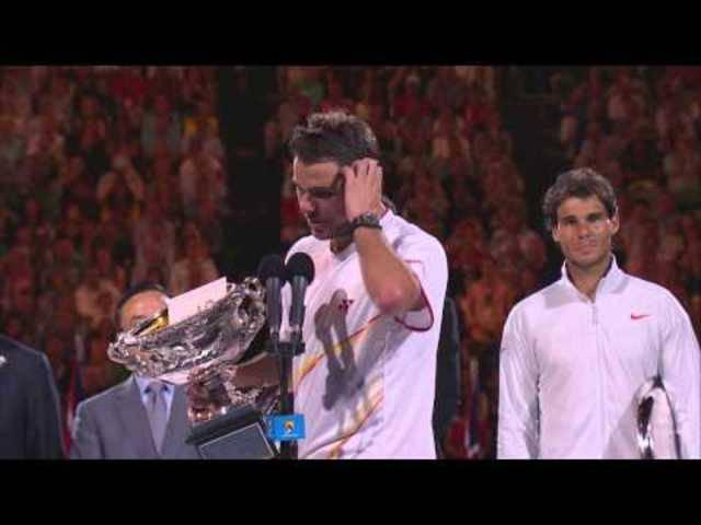 Rein emotional betrachtet, ist diese Sieges-Rede an den Australian Open 2014 ein absoluter Leckerbissen. Das mit dem Englisch müsste Stan aber nochmals üben.
