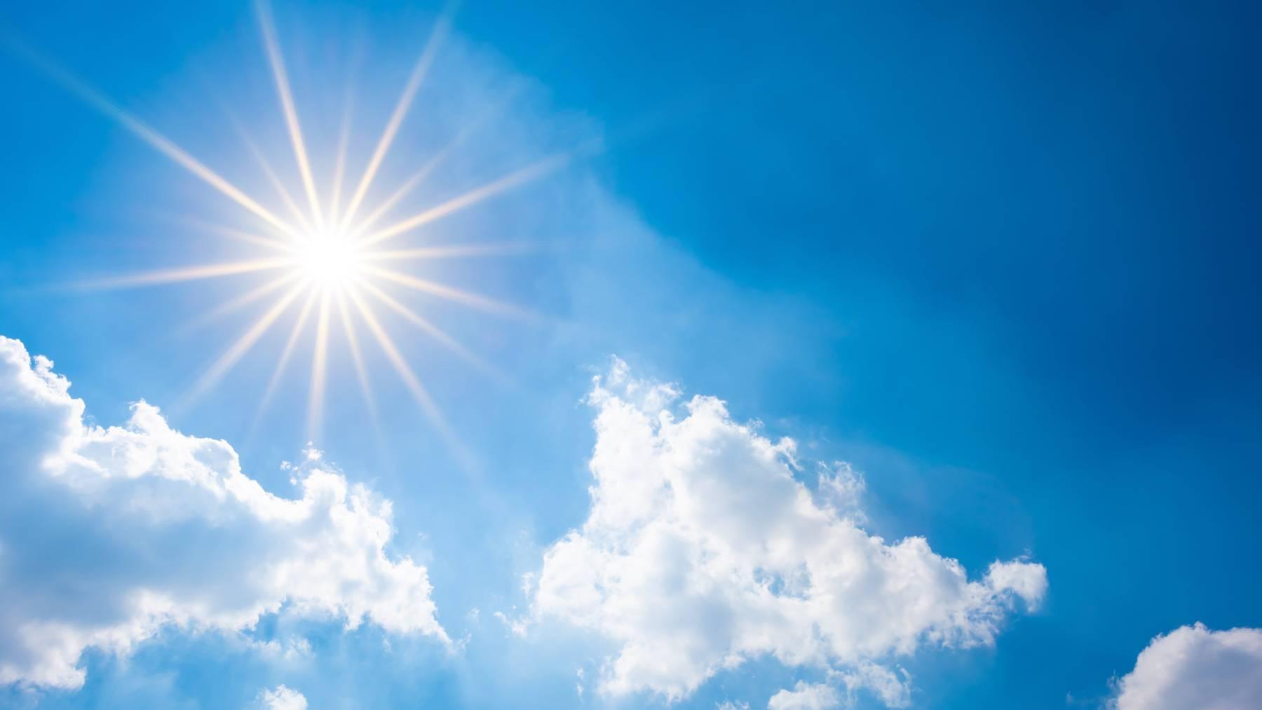 Dieses Wochenende erwartet uns wieder viel Sonnenschein.