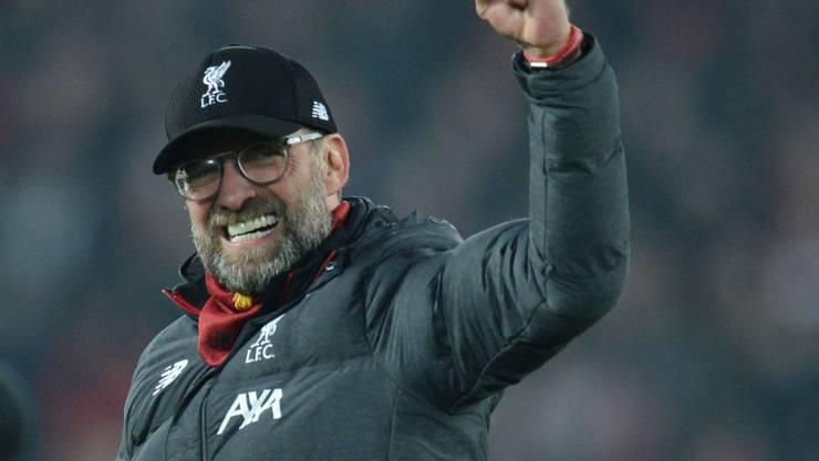 Jürgen Klopp hat allen Grund zur Freude: Sein Liverpool bricht derzeit alle Rekorde