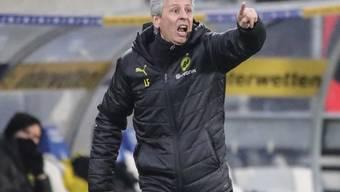 Auch die lautstarken Kommandos von Lucien Favre können die späte Niederlage des BVB in Sinsheim nicht verhindern