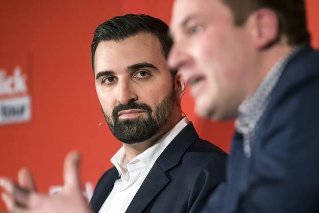 «No Billag»-Initiant Olivier Kessler im Januar 2018 an einer Podiumsdiskussion in Luzern.