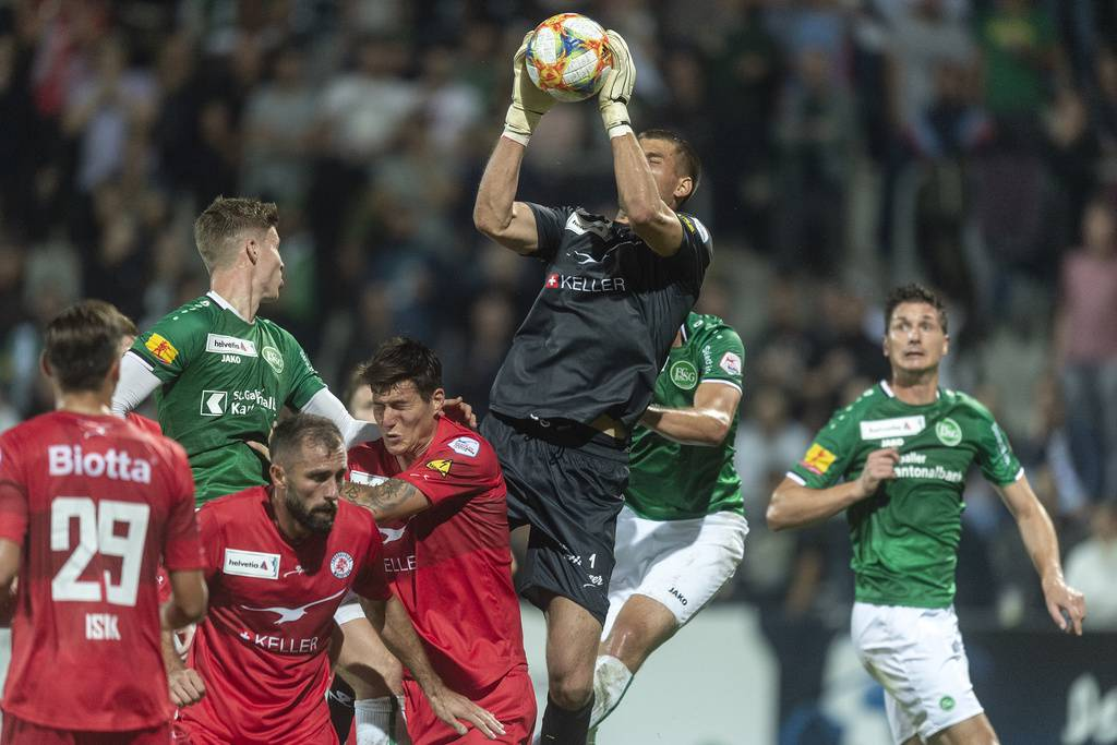 Der FC St.Gallen verliert das Cupspiel gegen den FC Winterthur. (© Keystone/Melanie Duchene)