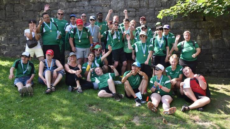 Alle Teilnehmer der Sportgruppe