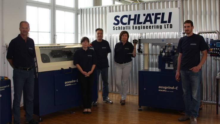 Das Schläfli-Team mit Chef Hans-Rudolf Schläfli (links).