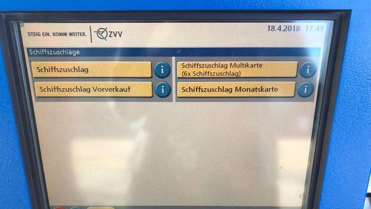 Die ZVV-Automaten werden auf den 1. Juni hin umgerüstet – dann gehört der Schiffszuschlag der Vergangenheit an.