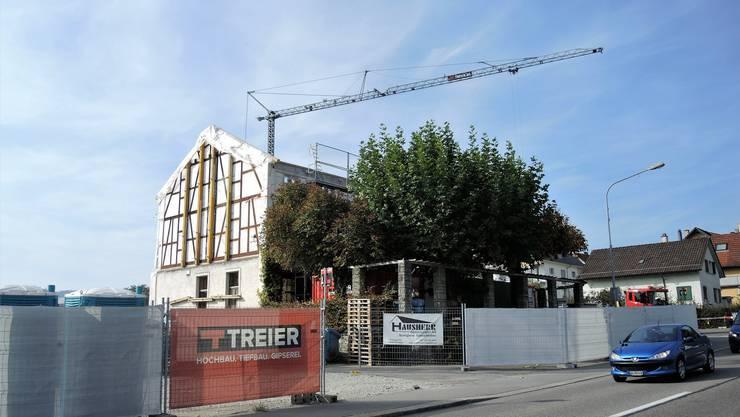 Im Umbau: Der Steinhof und die Gartenwirtschaft werden renoviert.