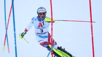 Daniel Yule - wie Aerni und Zenhäusern einer der Schweizer Podestfahrer. Er schaffte es in Kitzbühel und in Schladming in die Top 3