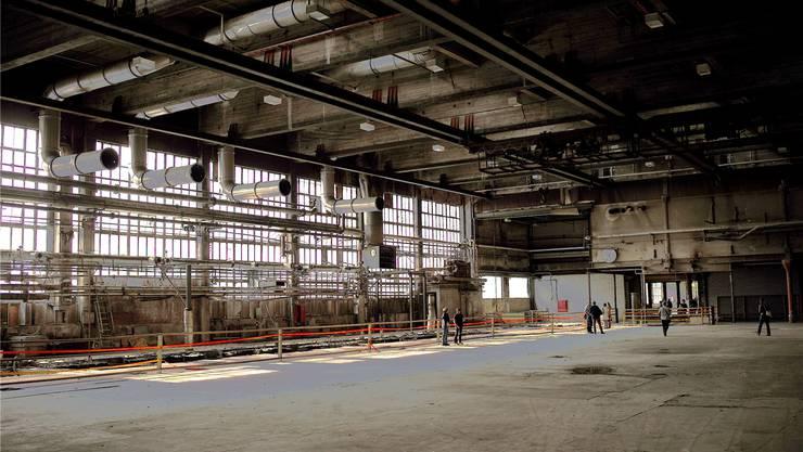 Einst einer der bedeutendsten Industriestandorte im Laufental: Die riesige, mittlerweile ausgehöhlte Produktionshalle der Papierfabrik Zwingen.