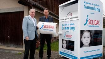 Die Stiftung Solidy will bis Ende Jahr 100 Sammelcontainer im Aargau aufstellen.
