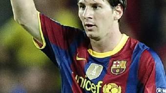 Doppelter Pfostenschuss: Lionel Messi.
