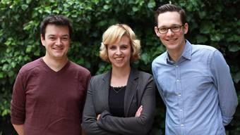 Miriam Locher mit Nils Jocher (l.) und Jonas Eggmann.