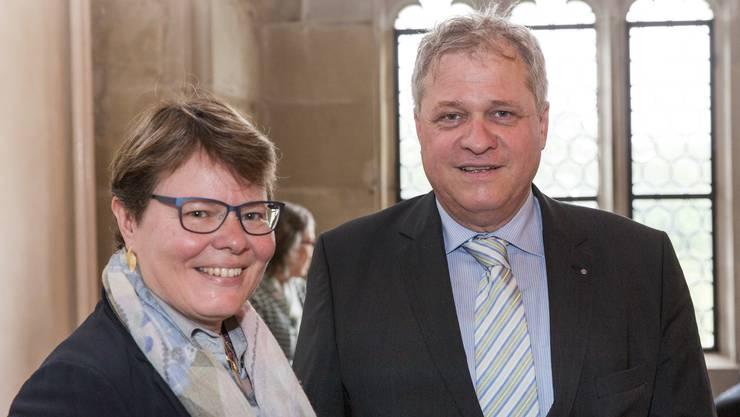 Marianne Wildi, CEO der Hypothekarbank Lenzburg AG, und Daniel Knecht, Präsident der Aargauischen Industrie- und Handelskammer, sind über ebendiesen Verband verbunden: Wildi ist seit 2012 Vorstandsmitglied, und Knecht wird am 1. Juni sein Amt abgeben – wohl an die bereits nominierte Marianne Wildi.