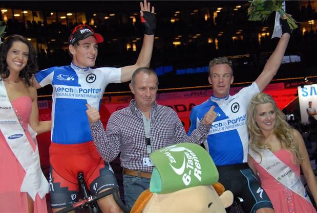 So sehen Sieger aus: Silvan Dillier (links) mit seinem Partner Keisse.