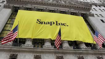 Snapchat hat mit seinem Umsatz im abgelaufenen Quartal die Erwartungen der Wall Street verfehlt. (Archivbild)
