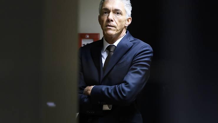 Bundesanwalt Michael Lauber vor der Anhörung bei den Geschäftsprüfungskommissionen (GPK) von National- und Ständerat.
