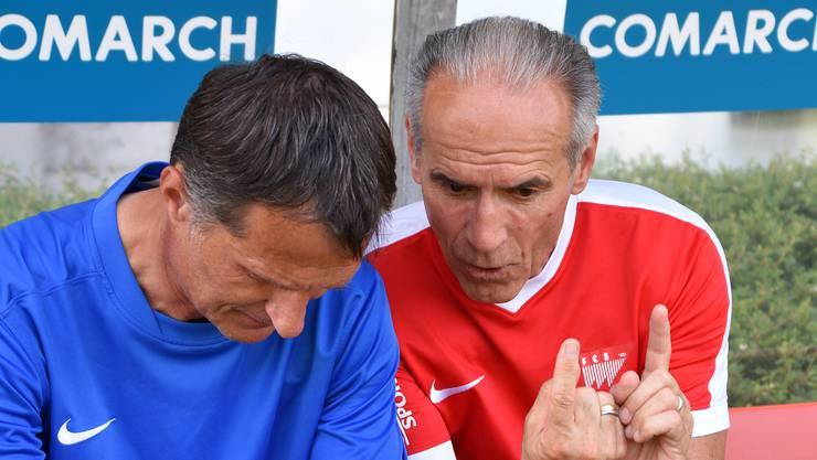 Die Wege von Trainer Dariusz Skrzypczak (links) und FCS-Sportchef Hans-Peter Zaugg trennen sich.