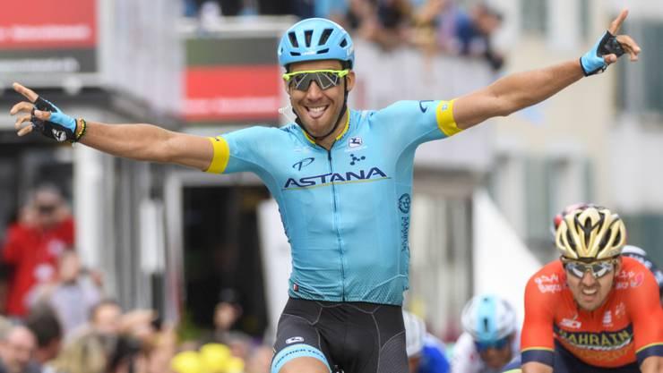 Der Spanier Omar Fraile bei seinem Sieg diesen Frühling an der Tour de Romandie