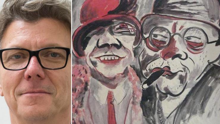 Museumsdirektor Matthias Frehner: «Wir kennen die Sammlung bisher nur bruchstückhaft.» Rechts: Das Gemälde «Paar» von Hans Christoph.