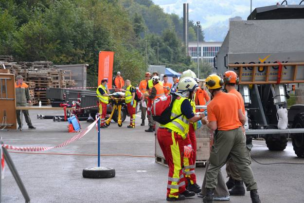 Die Zivilschützer und Rettungsdienste arbeiten eng zusammen.