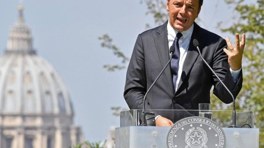 Italiens Premier Renzi will sein Volk 2018 an die Urnen rufen. (Archivbild)