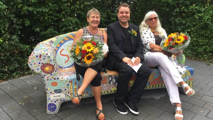 Von Links: Loes Burri, Simon Wiedmer und Therese Lüthi