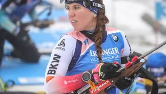 Im Schiessstand nicht optimal, in der Loipe aber stark: Lena Häcki lief beim Biathlon-Weltcup in Oberhof auf den 8. Platz