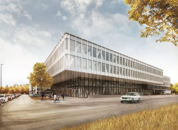 Die Pharmazulieferin Skan AG baut einen neuen Hauptsitz, der auf Wachstum ausgelegt ist. 420 Mitarbeiter werden einziehen, für 600 Mitarbeitende ist er ausgelegt.