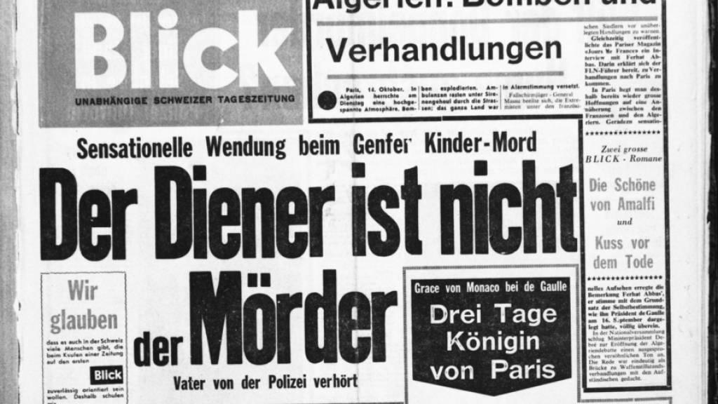 Titelseite der allerersten «Blick»-Ausgabe vom 14. Oktober 1959. (Archivbild)