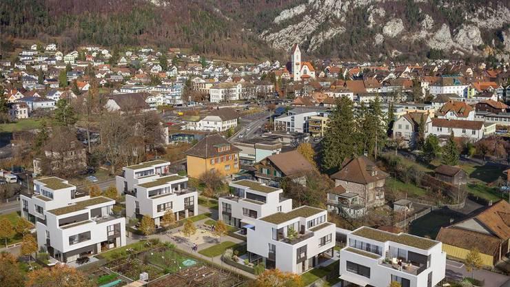 Moderne Baukuben fügen sich am Postilliongässli ins Balsthaler Ortsbild ein.