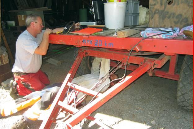 Instandstellung des Materialwagens