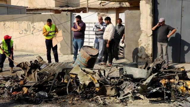 Einer der Anschlagsorte im Zentrum Bagdads