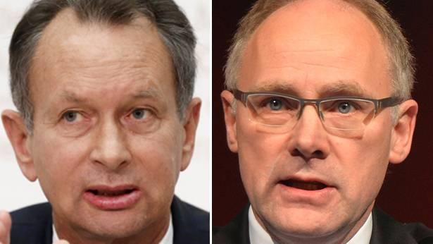 Haben den Segen des Gewerbeverbandes: Ständeratskandidaten Philipp Müller (FDP) und Hansjörg Knecht (SVP).