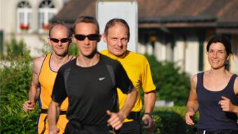 Trainieren für den Aargau Marathon: Im Bild die Laufgruppe Niederamt.