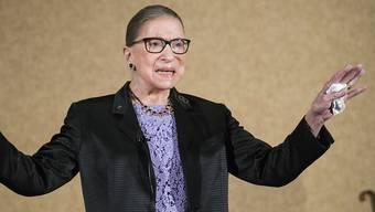 Oberste Richterin mit Kultstatus: die 86-jährige US-Verfassungsrichterin Ruth Bader Ginsburg. (Archivbild)
