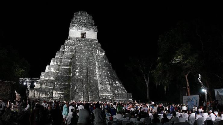 Im Heimatland der Maya nahmen zahlreiche Menschen an einer Zeremonie teil