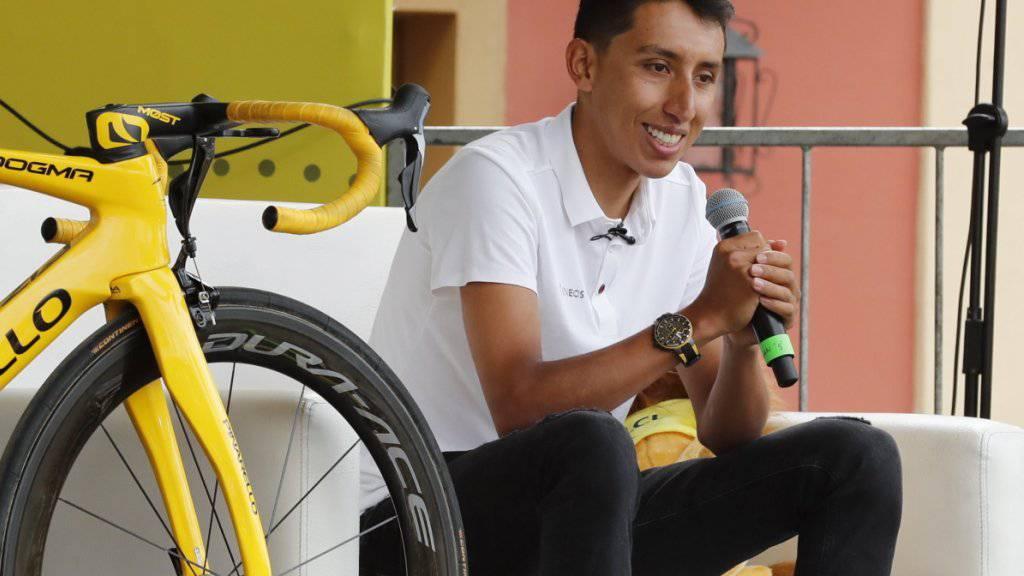 Egan Bernal durfte sich in seiner Heimatstadt Zipaquira feiern lassen