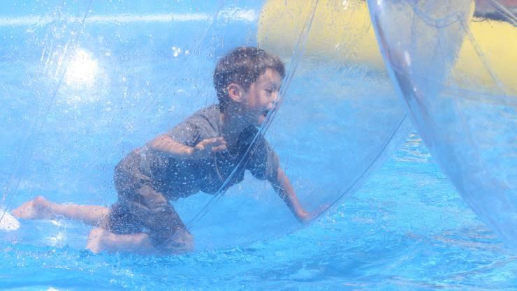 Wasserspass des Schwimmklubs und der Schwimmteams an der Bohnygasse.