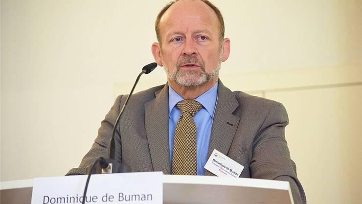 Dominique de Buman, Präsident von Biomasse Suisse, widmete sich der Frage, wie Bioenergie das Klima schützen kann.