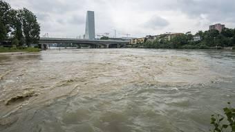Hochwasser Birs/Rhein Juni 2018