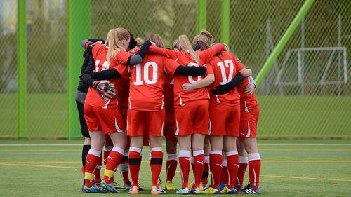 Die U18 Girls vor dem Spiel