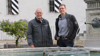 Präsident Josef Sachs (l.) und Vizepräsident Miro Barp stehen dem Förderverein Events Brugg.