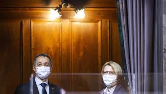 Bundesrat Ignazio Cassis (l) und Livia Leu (Archivbild)