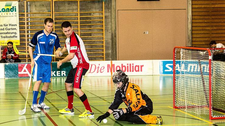Leimentals Goalie Dario Paternale (r.) stand oft im Mittelpunkt. Jaus