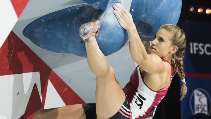 Weltmeister Petra Klingler wird im Bouldern Spitzenplätze in Angriff nehmen.
