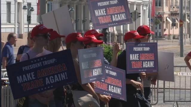 Proteste begleiten Treffen von Trump und Putin