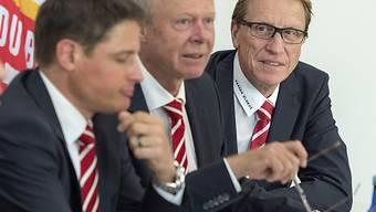 Peter Lüthi (Mitte) will die WM 2020 in die Schweiz holen.