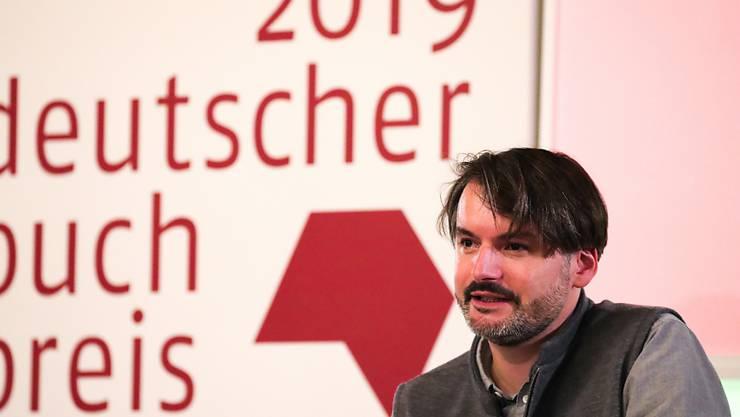 Preisträger Saša Stanišić am Montag in Frankfurt.