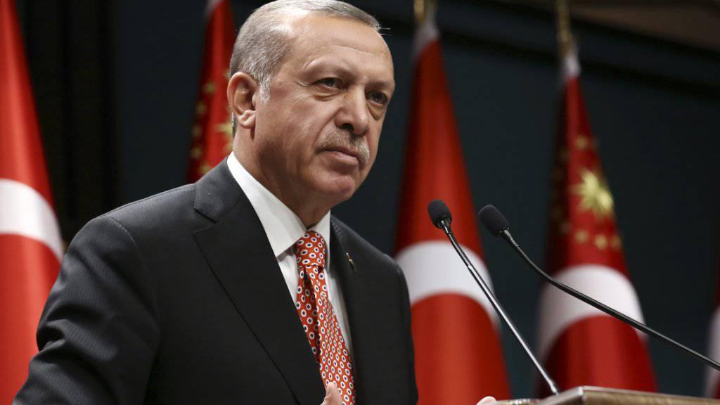 Militär und Geheimdienst will der türkische Präsident Erdogan direkt ans Präsidentenamt binden: Von solchen Plänen berichtet ein türkischer Abgeordneter. (Archiv)