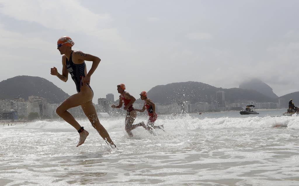 Olympia-Triathlon der Frauen (© Keystone)